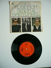 "Simon & Garfunkel Mrs Robinson 4 Track EP 7"" Vinyl UK 1968 CBS A1/B1 Single EXC"