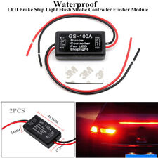 2xGS-100A Car LED Brake Stop Light Flash Strobe Controller Flasher Module Safety