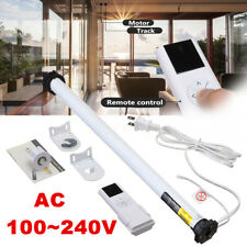 AC 100-240V DIY Electric Roller Blind Shade Roller Tubular Motor Remote Control
