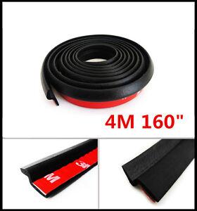 "Black 4M 160"" Z-shape Window Door Rubber Seal Weather Strip Universal Waterproof"