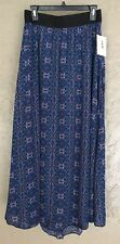 LulaRoe Lucy Long Maxi Skirt Blue Purple Pink Black NWT Medium