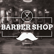 Barber Shop Sign, Barbershop window sign, hair salon stylists barber sticker