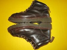"DR DOC MARTENS AIR WAIR 8287 Brown Leather 5"" Boots SZ UK 6; US 8; Made England"