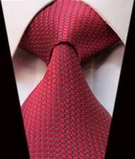 Cravate hommes en rouge imprimé carré Jacquard Tissé crème Micro à pois cravate