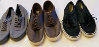 Lot of 3 Pairs Mens Vans size 9/9/10 Preowned