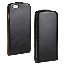 Vertical Flip Crazy Veins PU Leather Case Cover Holder For Apple iPhone Series