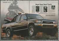 1989 TOYOTA SR5 pickup 2-page advertisement, Toyota SR5 pickup