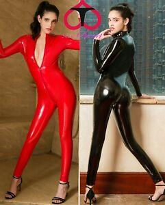 Tuta Catsuit Clubwear Mistress Cavallo Aperto Latex Aderente Dominatrice Lucido