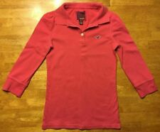 Hollister Women's Pink 3/4 Sleeve Polo Shirt - Size: Small