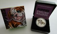 Tuvalu 50 Cents 2018 Puppies Englische Bulldogge 1/2 Oz Silber