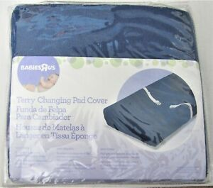 Terry Changing Pad Cover Dark Blue