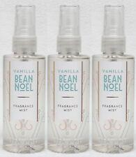 3 Bath & Body Works Vanilla Bean Noel Travel Size Mini Mist Spray 3 oz