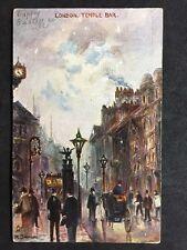Vintage Postcard - London #T28 - Temple Bar - 1906 Raphael Tucks Oilette