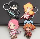 lot 20pcs Anime PVC Keychain Puppet Key Chain Girls boy Keyring