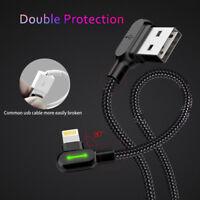 Led Lightning Cable USB Iluminado 1.2m Negro para Apple Iphone X 5 5S 6 Ipad
