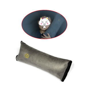 Safety Seat Belt Pad Strap Shoulder Sleep Pillow Cushion Cover Gray Universal