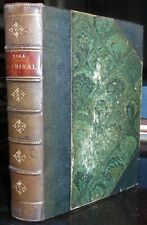 1886, GERMINAL, EMILE ZOLA, TEXT IN FRENCH, BEAUTIFUL LEATHER BINDING