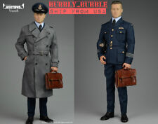 1/6 Allied Brad Pitt Pilot Suit Coat Set WWII Military Officer For Hot Toys USA