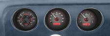 Dakota Digital 69 Pontiac GTO Le Mans Analog Dash Gauges Carbon Red VHX-69P-GTO