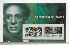 España Pintura Centenario Picasso Hojita Recuerdo del año 1981 (EC-638)