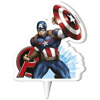 CAPTAIN AMERICA Novelty Birthday Cake Candle Candles Super Hero DeKora