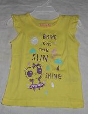 Kids Korner Bring on Sunshine Panda Girls Shirt 18 Months Yellow Ruffle Sleeves