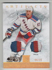 BRANDON DUBINSKY 2012-13 ARTIFACTS GOLD SPECTRUM PATCHES #6 RANGERS 15 MADE MINT