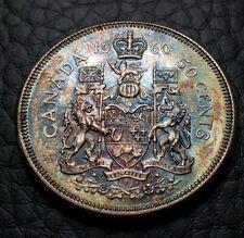 Toned 1960 Canada 50 Cents 1/2 Dollar | AU/UNC Condition