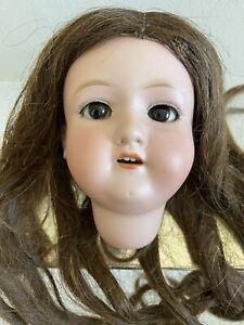 VINTAGE PORCELAIN BISQUE DOLL HEAD M B 2 JAPAN WITH WIG