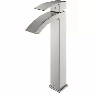 VIGO Duris Single Hole Single-Handle Vessel Bathroom Faucet in Brushed Nickel