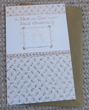 To Mum and Dad on your Pearl Anniversary Greetings Card