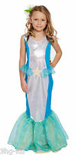 Girls Mermaid Fancy Dress Costume Fairytale Little Childs Princess Kids 11 Size Medium / Age 7-9
