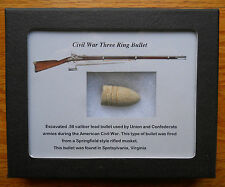 Civil War dug Musket Bullet VA Battlefield Relic w/display case unique gift !