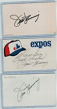 (3) JIM FANNING INDEX CARD SIGNED 1981-84 MONTREAL EXPOS MANAGER PSA/DNA d.2015