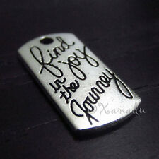 10PCs Find Joy In The Journey Wholesale Silver Plated Charm Pendants - C2157