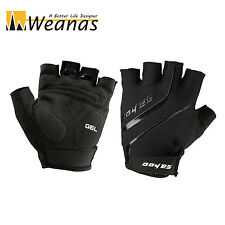 Weanas XL Breathable GEL Silicone Black Bike Bicycle Half Finger Cycling Gloves