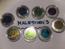 8 x 25 € NIOB Münzen 2003, 04, 05, 06, 07, 08, 09 + 2010 + Münzkapseln lt. Foto