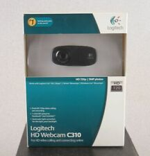 Logitech C310 720 HD High Def Web Camera w 5MP Still Pictures New in Box!