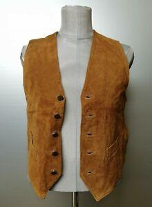 Bomboogie | smanicato pelle Tg. M | men's leather jacket gilet