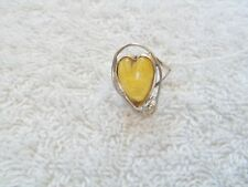 AMBER RING FROM  MEXICO NEW.