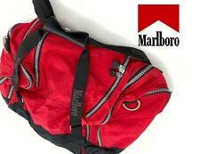 Vintage Marlboro Ilimitado Cigarrillo Gimnasio Lona Viaje SPORTS Bag Rojo &