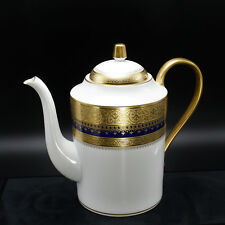 Faberge Imperial Heritage Coffee Pot Cobalt Blue 24k Decoration