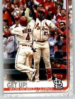 (15) 2019 Topps Series 2 15-Card Base Lot MOLINA/OZUNA Cardinals Get Up 536