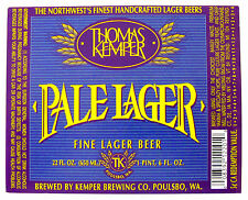 Thomas Kemper PALE LAGER beer label. WA 22oz