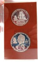.1973 COOK ISLANDS SILVER PROOF SET.  7 1/2 DOLLARS & 2 1/2 DOLLARS.