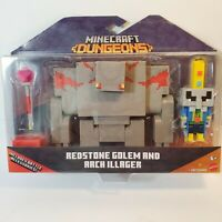 Minecraft DUNGEONS Redstone Golem and Arch Illager Mojang Mattel W Battle Access