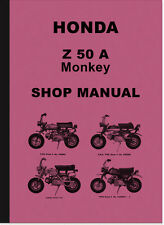 Honda Z 50 A Monkey Z50A Reparaturanleitung Werkstatthandbuch Repair Shop Manual
