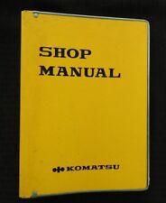 GENUINE KOMATSU PW210-1 PORTABLE CRAWLER EXCAVATOR SERVICE REPAIR MANUAL