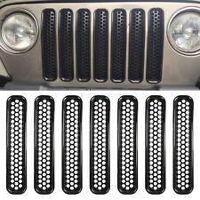 7Pcs Car Front Grille Grill Mesh Inserts Trim Fits Jeep Wrangler TJ 1997-2006