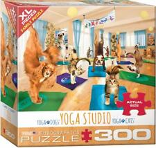 EuroGraphics Dogs and Cats Yoga Studio Jigsaw Puzzle (300-Piece)